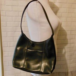 Black Leather Nine West Shoulder Purse Bag w/ Coin